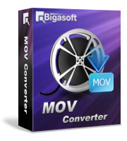 Bigasoft MOV Converter Software Box