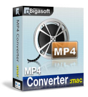 Bigasoft MP4 Converter for Mac Software Box