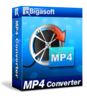 Bigasoft MP4 Converter Software Box