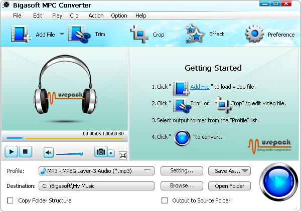 Bigasoft MPC Converter 3.7.44.4896
