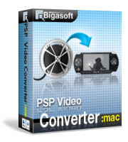 Bigasoft PSP Video Converter for Mac Software Box