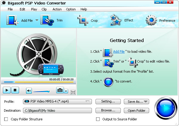 Bigasoft PSP Video Converter 3.7.36.4825 full