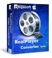Bigasoft RealPlayer Converter for Mac Software Box