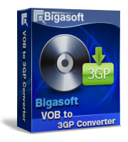 Bigasoft VOB to 3GP Converter Software Box