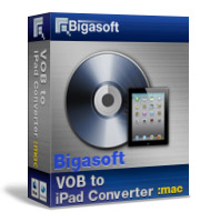 Bigasoft VOB to iPad Converter for Mac Software Box