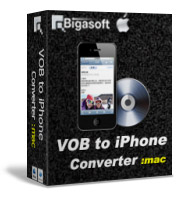 Bigasoft VOB to iPhone Converter for Mac Software Box