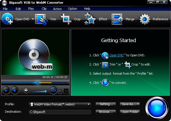 Bigasoft VOB to WebM Converter 3.2.3.4772