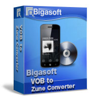 Bigasoft VOB to Zune Converter Software Box