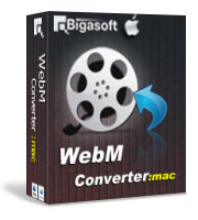 Bigasoft WebM Converter for Mac Software Box