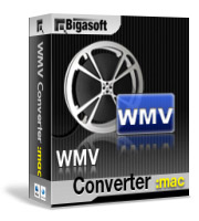 Bigasoft WMV Converter for Mac Software Box
