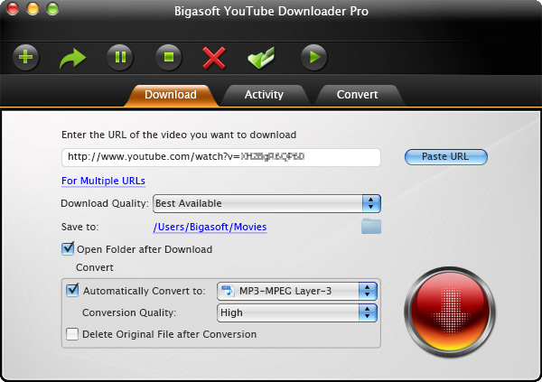 Keepvid Alternative for Mac - Bigasoft YouTube Downloader for Mac