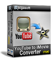 Bigasoft YouTube to iMovie Converter Software Box